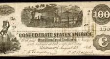 Cs-40. $100 1862 Confederate States of America * More Paper Currency For Sale