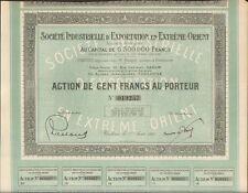 EXPORTATION en EXTRÊME-ORIENT (TOULOUSE INDOCHINE) (I)