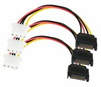SATA Power Cable Adapter 3 Pack SATA 15 Pin Male to Molex LP4 Female Power Cable