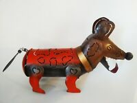Tin Dog Tea light Candle Holder - Made in Indonesia