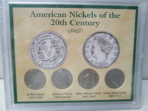 American Nickels of the 20th Century 4 Coin Set