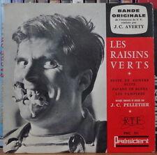 """J.C. AVERTY/JEAN CLAUDE PELLETIER LES RAISINS VERTS B.O  7"""" 45t  FRENCH EP 1963"""
