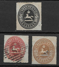 BRUNSWICK ,  GERMANY, 1865 ,  , SET OF 3 , ROULETTED , USED CV$560