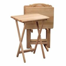 Winsome Wood 22520 TV Five-Piece Tray Table Set - 42520, Natural