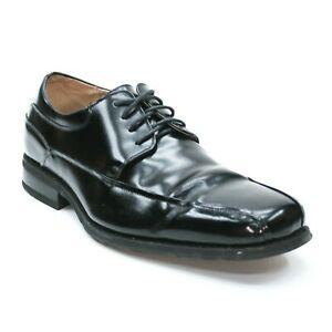 Florsheim Men's 10 3E Extra Wide Alverson Oxford Black Bike-Toe Leather Dress