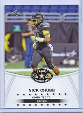 "NICK CHUBB 2014 LEAF ""1ST EVER PRINTED"" U.S. ARMY ALL-AMERICAN ROOKIE CARD!"