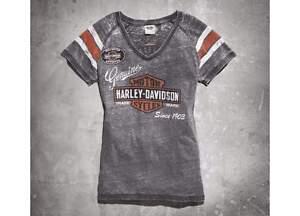 Harley Davidson Womens Burnout T-shirt Black