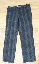 "Jones New York Womens Size 14 Jeans Lexington Straight Faux Snakeskin 28"" Inseam"