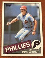 1985 Topps MIKE SCHMIDT Philadelphia Phillies 500