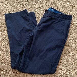 Men's CALLAWAY Golf Slacks Navy Blue Cotton Spandex Stretch Waist 36x32