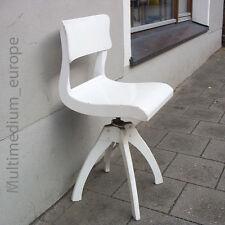 ancien Art Déco Bauhaus Chaise pivotante à roulettes Chaise de travail