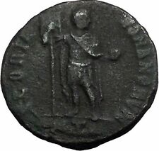 THEODOSIUS I the Great with globe & Labarum 379AD Rare Ancient Roman Coin i55115