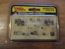 Woodland Scenics N Scale Scenic Accents Detail Set Assorted Crates A2162
