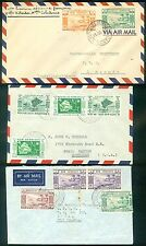 NEW HEBRIDES : 3 Mixed Franking British & French covers.