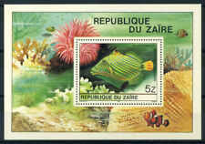 Congo Zaïre 1980 Mi. Bl.38 Bloc Feuillet 100% ** Poisson
