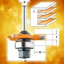 """CMT 3/16"""" Slot Cutter Router Bit with Arbor & Bearing, 1/4"""" Shank 822.348.11A"""