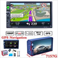 "7"" HD 2Din Autoradio Lettore MP5 Bluetooth touch screen GPS di Navigazione USB FM + Mappa"