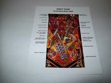 Bally PARTY ZONE Original NOS Pinball Machine PLAYFIELD SHOT MAP Promo Photo