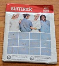Butterick 4695 Wearable Art Designs Embellishment Jewels Bling 1980s Jewels