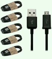 5 Pack USB 2.0 A to Micro B Data od3.4 Sync Charge Cable for Samsung HTC LG Sony