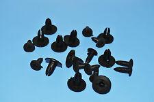 10 X SAAB 9-3 BLACK PLASTIC RIVETS CLIPS FITTING TRIM PANELS