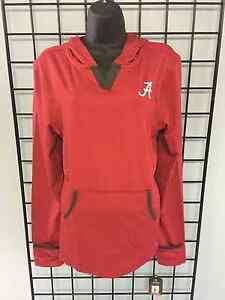 University of Alabama Ladies Crimson Fitted Athletic Pullover with Script A