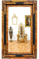 Miroir sur pied Style baroque 160 x 40 cm Noir Y7M9