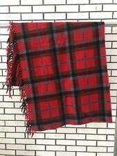 Vintage Faribo Wool Blanket - 100% Wool Red Plaid