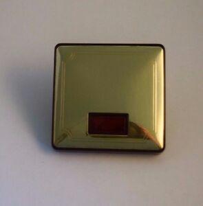 Merten Antik Wippe für Schalter / Taster mit roter Kalotte Blank Messing (476)