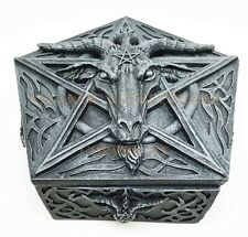 The Sabbatic Goat Baphomet Satanism Jewelry Collectible Trinket Box Statue
