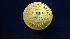 Aero Auto Parts   shop downtown   Hanover, Pa.  Medal Token