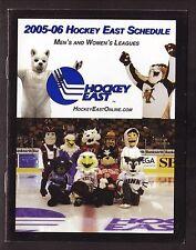 Hockey East--2005-06 Schedule Booklet