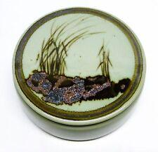 Vintage Reid Ozaki Studio Pottery Covered Grasses Box - Northwest NW (C1)