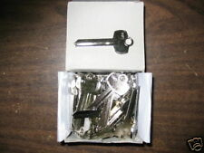 1000  BEST L SOLID BRASS NICKEL PLATED KEY BLANKS. NEW