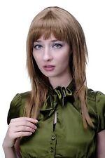 perruque blond Châtaigne + Rougeâtre séduisant frange coiffure LISSE Fort