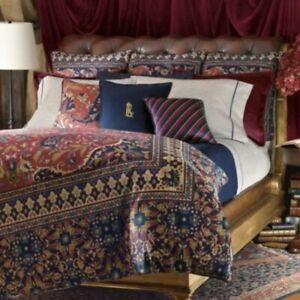 Lauren Ralph Lauren POETS SOCIETY Tapestry Rug QUEEN FULL DUVET COVER Comforter