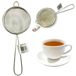 Tea Strainer Mesh Infuser Loose Leaf Kitchen Filter Herb Sieve Traditional Steel