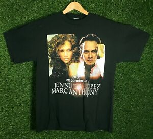 Vtg Jennifer Lopez Shirt Concert Promo Latin Dance Music Band Marc Anthony 2000s