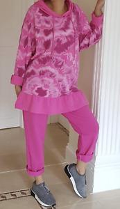 Pink Frilled Lounge Wear 2 Pcs Hoodie Joggers Loungewear Comfy 12 14 16