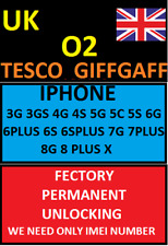 UK O2 TESCO GIFFGAFF SKY IPHONE 3G 4S 5S 6G 6+ 7G 7+ 8 8+ & X  XR XS MAX UNLOCK