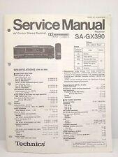 Technics Original Service Manual SA-GX390 Receiver