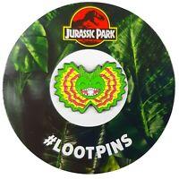 Jurassic Park Dilophosaurus Dinosaur Enamel Lapel Pin Badge Loot Crate Exclusive