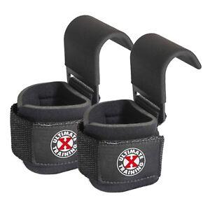 UXT Ultimate Grip Hook Weight Lifting Straps Heavy Duty Gym Power Wrist Wraps