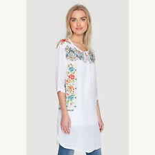 Johnny Was | NWT Astrid Effortless Tunic in White 7207– Size XS