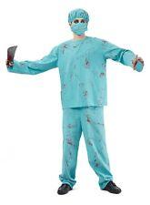 Adulti Sanguinoso SCRUBS Costume Di Halloween Uomo Donna Medico Chirurgo Costume