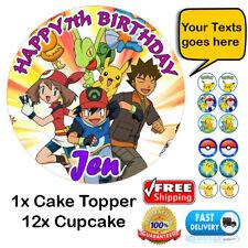 Pokemon Personalizado Comestible Papel De Oblea Cake Topper glaseado o