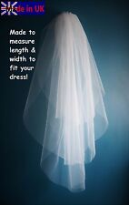 Bridal Veil *30''/36''/42''/3 Tier*Fingertip Length*Cut Edge* Ivory&Off White*
