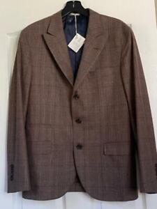 NWT Brunello Cucinelli  Wool Wool Jacket Suit Jacket Blazer  New Size 50