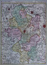 Brüssel - Kupferstichkarte nach Nikolaus Visscher bei Peter Schenk jun.