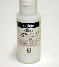 Vallejo GLOSS Acrylic Varnish 2oz / 60ml  26.517 26517  UV Resistant Clear Coat